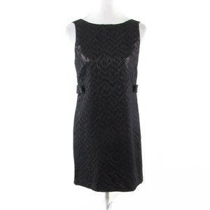 Tibi black shimmery sleeveless shift dress 4